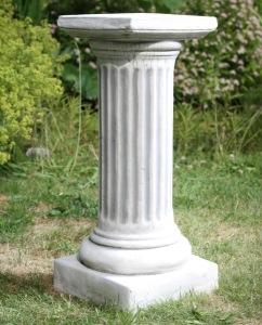 Trädgårdskonst romersk pelare