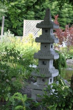 japansk trädgård , grå granit