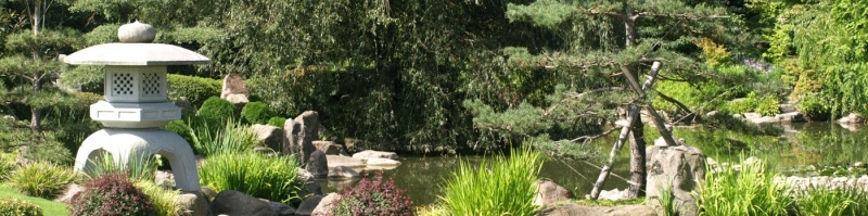 Japansk trädgårdsdesign stenhus
