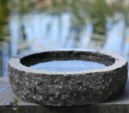 Fågelbad , granitfågelbad, natursten