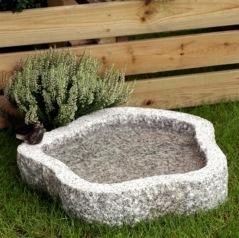 Fågelbad i granit, granit fågelbad,