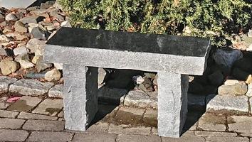 GRanitbänk, trädgårdsbänk, Trädgårdskonst, Polerad granit