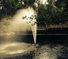 Oase Flytande fontän , offentliga fontäner, fontän till stora dammar