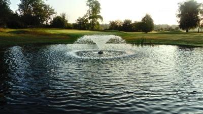 Flytande fontän , fontän till stora dammar, fontän golfbana, dammpumpar önnestad
