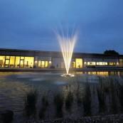 Flytande fontäner, oase flytfontän , fontän till golfbana, dammprodukter önnestad