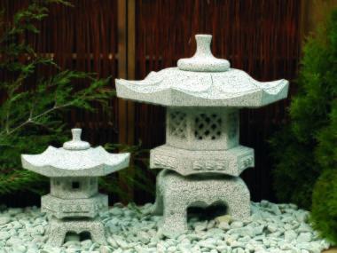 japansk trädgård japanska granithus zen Tengi gata