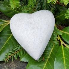 hjärta, stenfigur, hjärta i sten, dekoration figurer