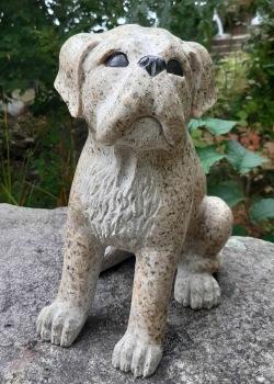 Trädgårdsfigur granit hund