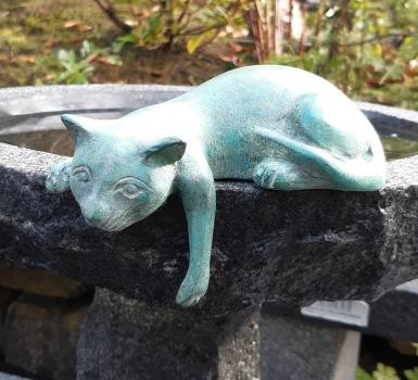 Dekoration katt bronz