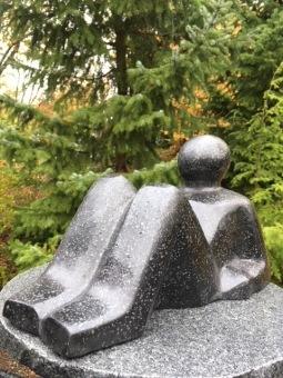 trädgårdskonst, trädgårdsfigur, modern trädgårs figur, terazzo