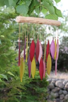 vindspel, glasdekoration, trädgårdskonst