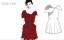 Knit röd klänning