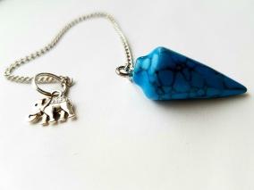 Pendel Turquoise Blue Agat - Single Elephant