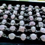 Rose Quartz Silverplated Ring