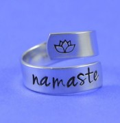 Namaste one size steel ring