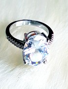 16 mm Silverring with K9 Crystal