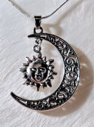 Necklace with sun and moon
