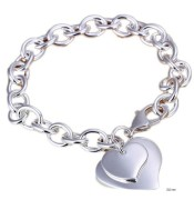 925 sterling silver bracelet with hearts