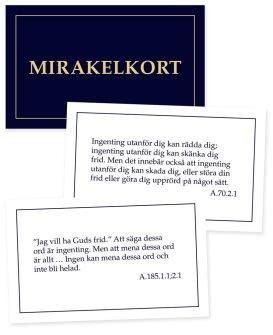 Mirakelkort - 200 kort med citat från En kurs i mirakler av Helen Schucman -