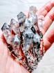 1 pcs Devils crystal quartz Hexagonal pyramid Pendulum necklace