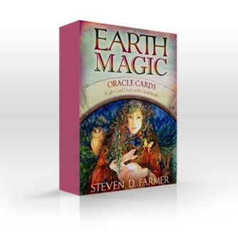 Earth Magic Oracle Cards - Steven D Farmer - in English - Cards with booklet