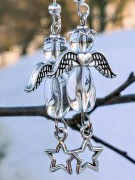 Angel earrings glas