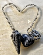 Pendulum with heart's - 2 types of Grey Colours