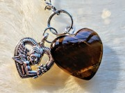 Pendulum with heart's - 3 types of Brown Colours