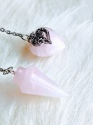 Pendulum Rose Quartz with heart