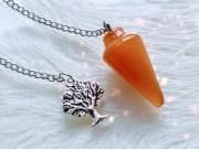Pendulum Orange Onyx Agate