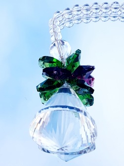 Crystal Angel Suncatcher - Multicolour - Green