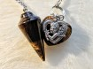 Pendulum with heart's - 3 types of Brown Colours - Pendel Tigereye