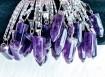 1 pcs Amethyst Pendulum Necklace