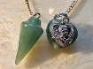Pendulum with heart's - 2 types of Green Colours
