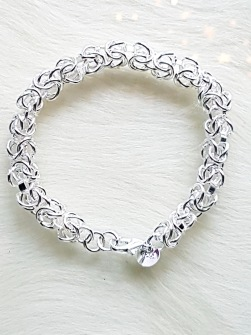 925 sterling silver bracelet with multiple chains -