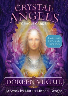 Crystal Angels Oracle Cards  A 44-Card Deck and Guidebook by Doreen Virtue - På Engelska