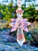 Angel Crystal Suncatcher - Light pink
