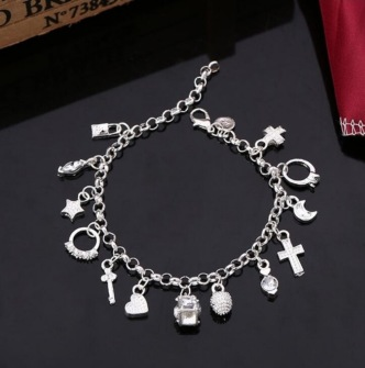 925 sterling silver charm bracelet -