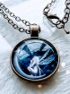 Pendant Cabochon - Man in the moon with fairy - 2 colors