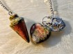Pendulum with heart's - 3 types of Green & Red Colours