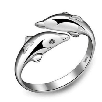 Dolphin ring 925 sterling silver - Dolphin Silver Ring