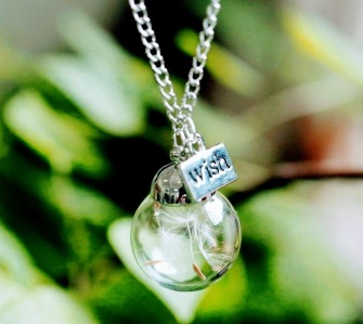 Dandelion seed necklace -