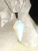 1 st Opalite pendulum 30 mm with 45 cm snakechain