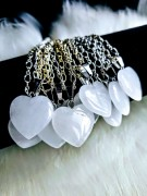 1 pcs Clear Quartz Pendant heart with 925 Sterling Silver chain
