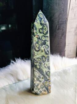 500 gram Malachite Obelisk Crystal -