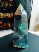 Flourite Quartz Crystal Obelisk 500 gram