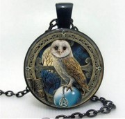 Pendant Cabochon - Owl in 3 colors