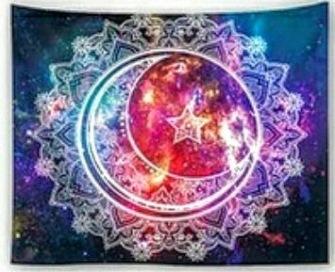 Sun, Moon, Star Mandala - Table Cloth - Bordsduk -
