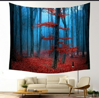 Forrest in the Fall - Table Cloth - Bordsduk -