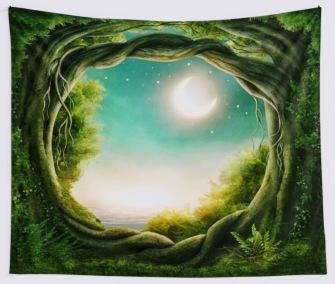 Moon in Glade - Table Cloth - Bordsduk -